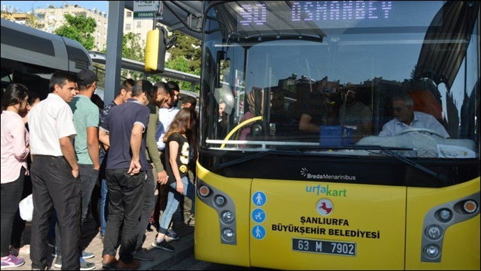 Urfa'da toplu taşıma araçlarının sefer saatleri değişti