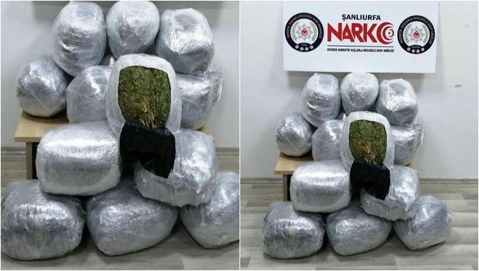 Urfa'da Uyuşturucu Operasyonunda 2 Zanlı Tutuklandı