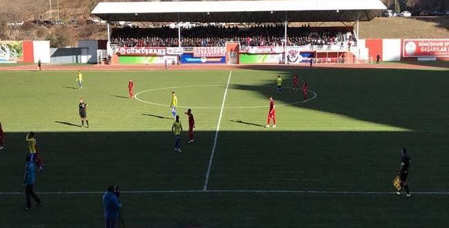 Urfaspor Gümüşhane'de kafa golüyle yıkıldı
