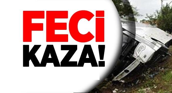 Urfa'ya Gelen Yolcu Otobüsü Devrildi: Ölü Ve Yaralılar Var