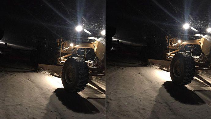 Viranşehir Belediyesi kar yağısı ile birlikte sahaya indi (VİDEOLU)