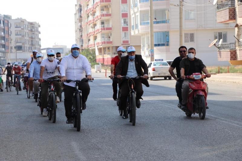 Viranşehir'de Belediye bisiklet turu düzenledi
