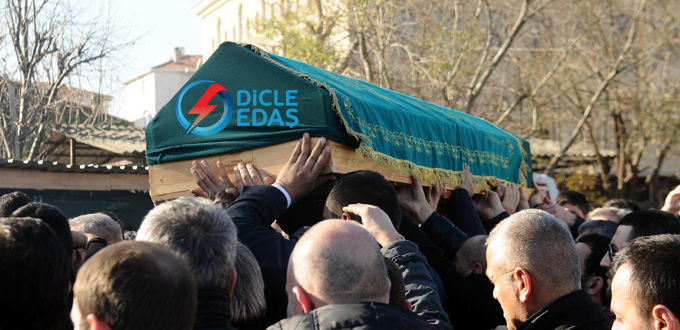 Viranşehir'de elektriğin cenazesi kaldırıldı
