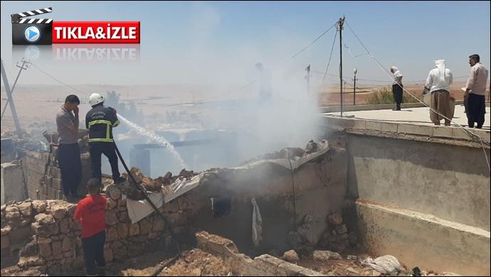 Viranşehir'de ev yangını: İtfaiye müdahale etti
