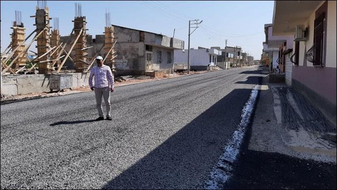 Viranşehir'de kış öncesi asfaltlama çalışmaları
