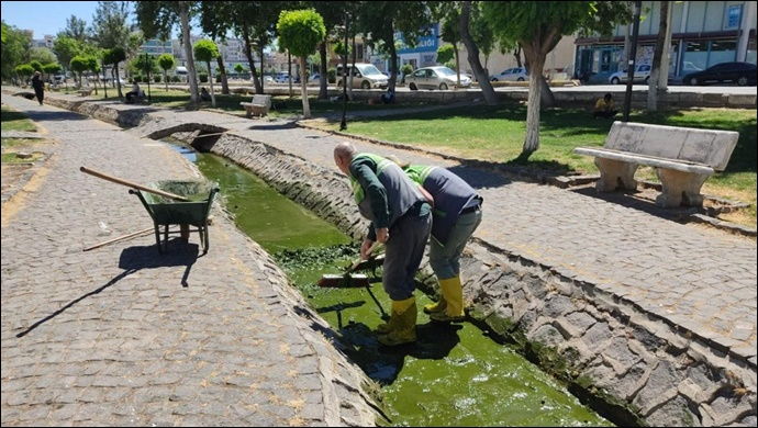Viranşehir'de Park Ve Bahçelerde Bayram Temizliği