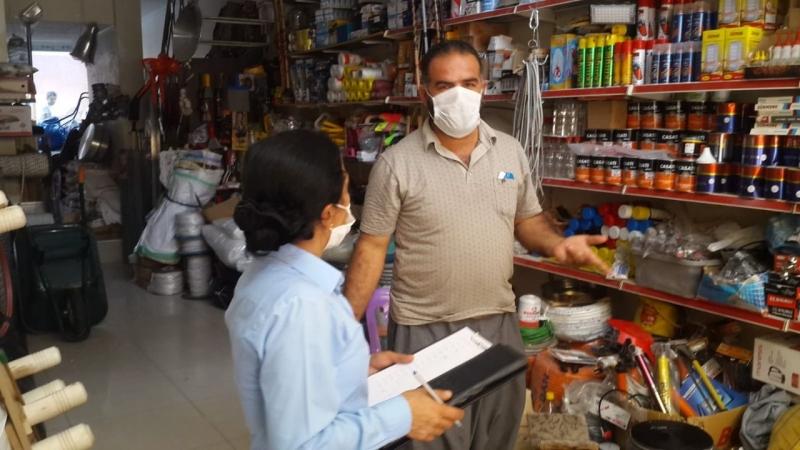 Viranşehir'de zabıta ekipleri maske ve hijyen denetimini sürdürüyor