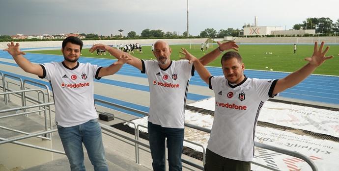 Vodafone karakartallılar, Beşiktaş'ı slovakya kampında ziyaret etti