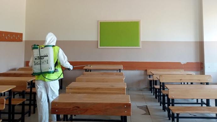Yeni Eğitim Öğretim Yılı Öncesi Okullar Dezenfekte Edildi